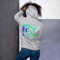 September Intracranial Hypertension Awareness Month/WARRIOR Marble Print Unisex Hoodie