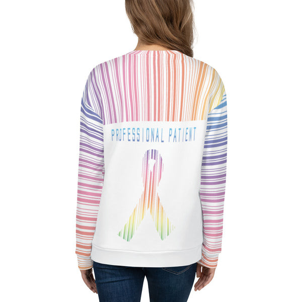 Professional Patient/Rainbow All Over Print Unisex Sweatshirt