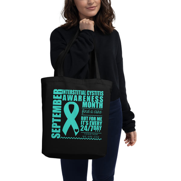 September Interstitial Cystitis Awareness/WARRIOR Eco Tote Bag