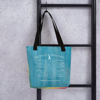 October Dysautonomia Awareness Month/POTS Facts Tote bag