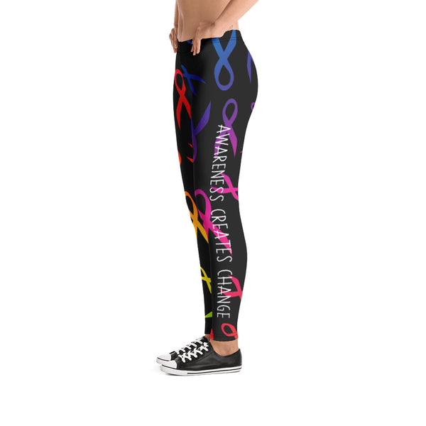 Awareness Creates Change Leggings