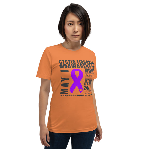 May Cystic Fibrosis Awareness Month Short-Sleeve Unisex T-Shirt