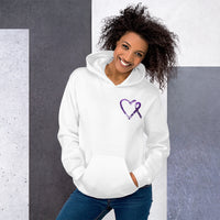 May Lupus Awareness Month/WARRIOR Marble Print Unisex Hoodie