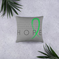 Two Sided Chronic Illness Hope/Green Basic Pillow