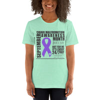 Two Sided Facts/September Chiari Awareness Month Short-Sleeve Unisex T-Shirt