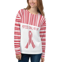 Professional Patient/Red All Over Print Unisex Sweatshirt