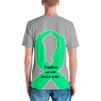 Brothers Don't Let Sisters Fight Alone/Green All Over Print Men's T-shirt