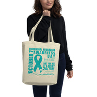 October 7th Trigeminal Neuralgia Awareness/WARRIOR Eco Tote Bag