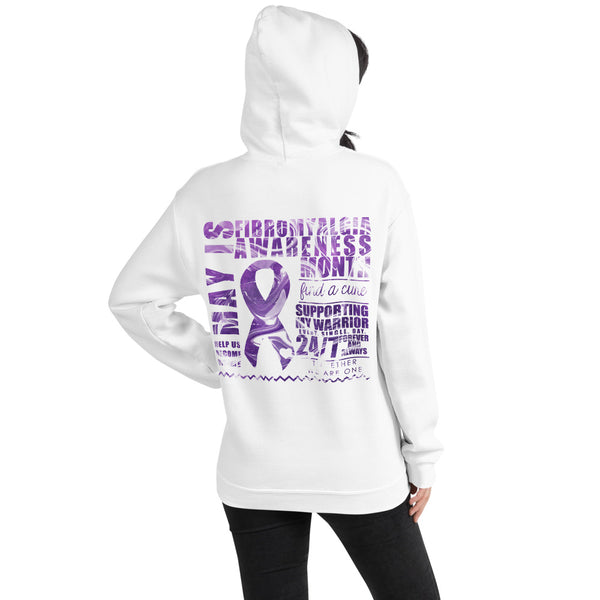 May Fibromyalgia Awareness Month/SUPPORTER Marble Print Unisex Hoodie