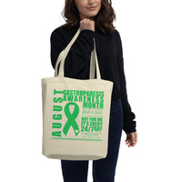 August Gastroparesis Awareness Month/WARRIOR Eco Tote Bag