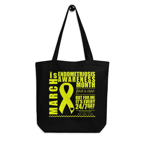 March Endometriosis Awareness Month/WARRIOR Eco Tote Bag