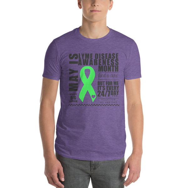 Two Sided Facts/May Lyme Disease Awareness Month Short-Sleeve T-Shirt
