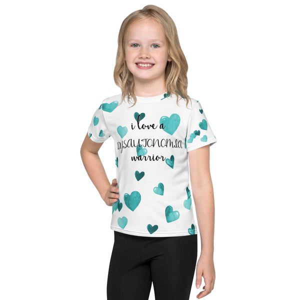 I Love A Dysautonomia Warrior All Over Print Kids T-Shirt