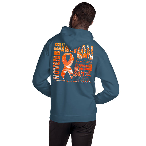 November CRPS/RSD Month/SUPPORTER Marble Print Unisex Hoodie