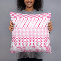 Ribbons on Ribbons/Pink Basic Pillow
