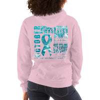 October Dysautonomia Awareness Month/WARRIOR Marble Print Unisex Hoodie