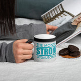 Strongtober Dysautonomia Matte Black Magic Mug