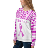Professional Patient/Pink All Over Print Unisex Sweatshirt