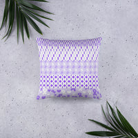 Ribbons on Ribbons/Purple Basic Pillow