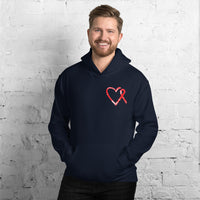 February Marfan Syndrome Awareness Month/SUPPORTER Marble Print Unisex Hoodie
