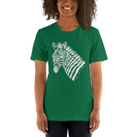 Fight Like A Zebra Zentangle Short-Sleeve Unisex T-Shirt