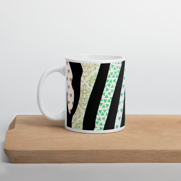 Zentangle Stripes Mug