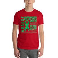 August Gastroparesis Awareness Month/WARRIOR Tie Dye Print Short-Sleeve T-Shirt