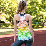 Strong Stronger Strongest Ribbons Women's Racerback Tank