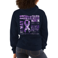 May Fibromyalgia Awareness Month/WARRIOR Marble Print Unisex Hoodie