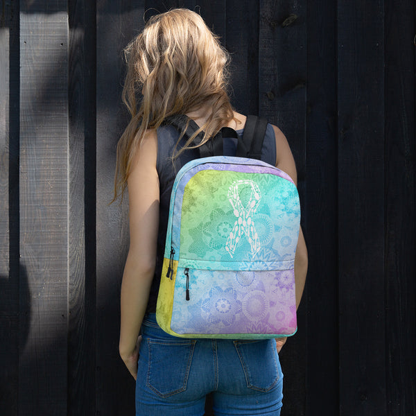 Spoonie Ribbon Mandala Backpack