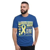 March Endometriosis Awareness Month/WARRIOR Tie Dye Print Short-Sleeve T-Shirt