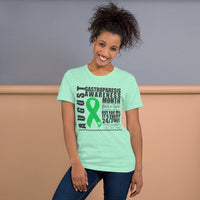 Two Sided Facts/August Gastroparesis Awareness Month Short-Sleeve Unisex T-Shirt