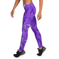 Fibromyalgia Warrior Ribbon Leggings