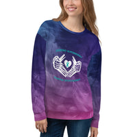 Dysautonomia Hero Cape All Over Print Unisex Sweatshirt
