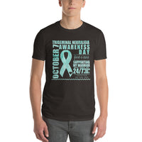 October 7th Trigeminal Neuralgia Awareness/SUPPORTER Tie Dye Print Short-Sleeve T-Shirt