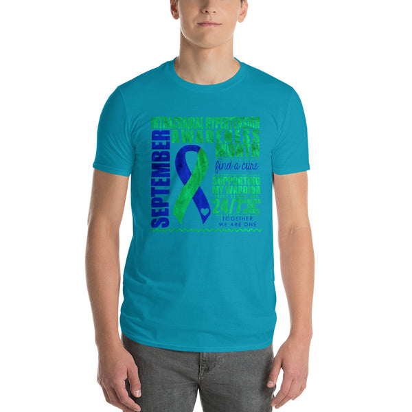 September Intracranial Hypertension Awareness Month/SUPPORTER Tie Dye Print Short-Sleeve T-Shirt