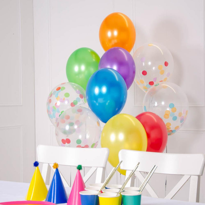How to create a confetti balloon bouquet