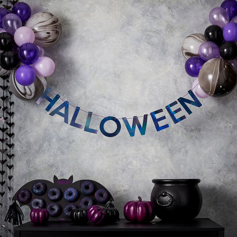 Halloween balloons and bunting