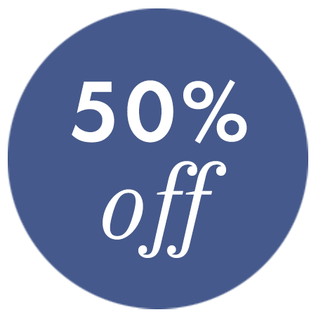 50% Off Badge