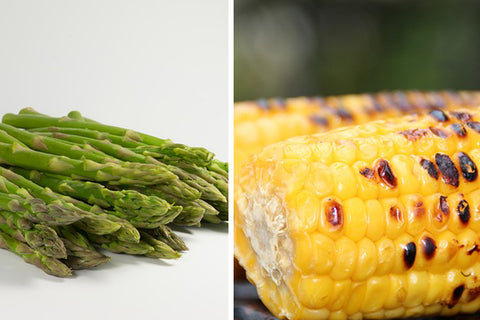 Asparagus and sweetcorn
