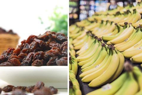 Bananas and dried fruit