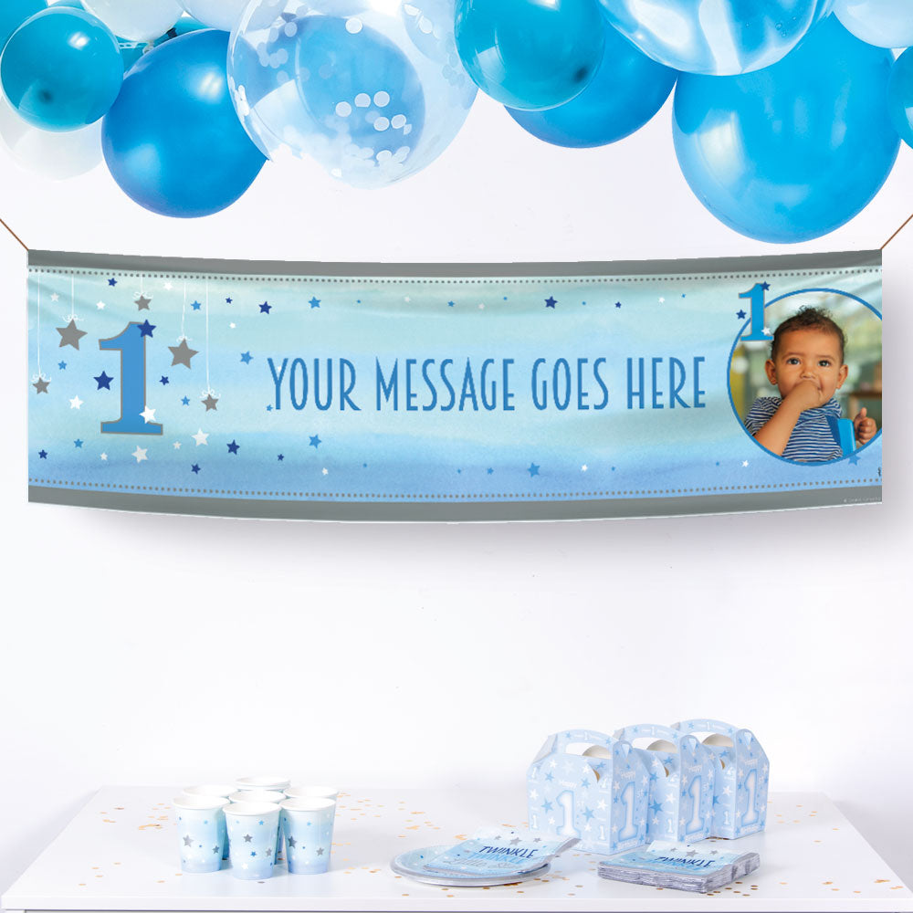Personalized Party Decorations First Birthday Banner Birthday Banner Decorations 1st Birthday Boy Personalized Banner Fun to be One