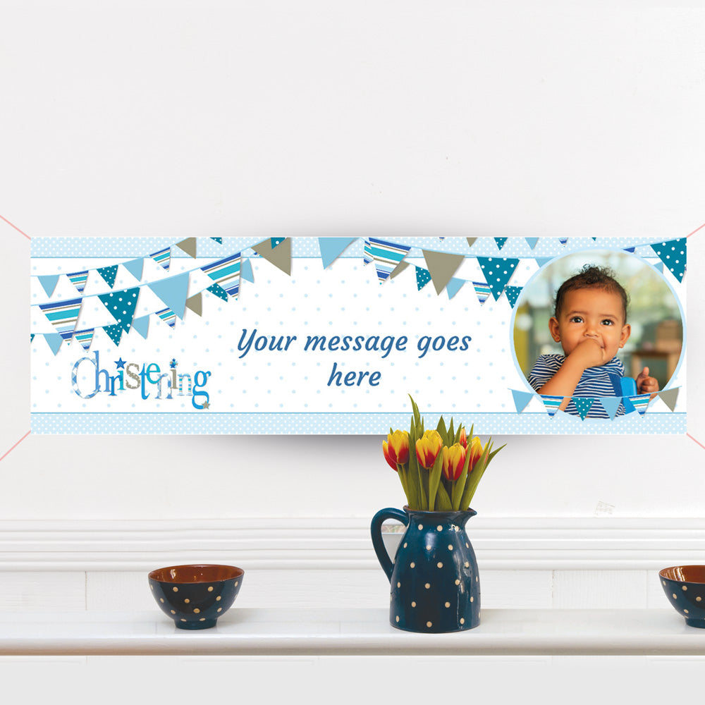 Christening Personalised Banners