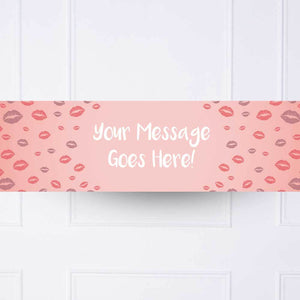 Lips Personalised Party Banner