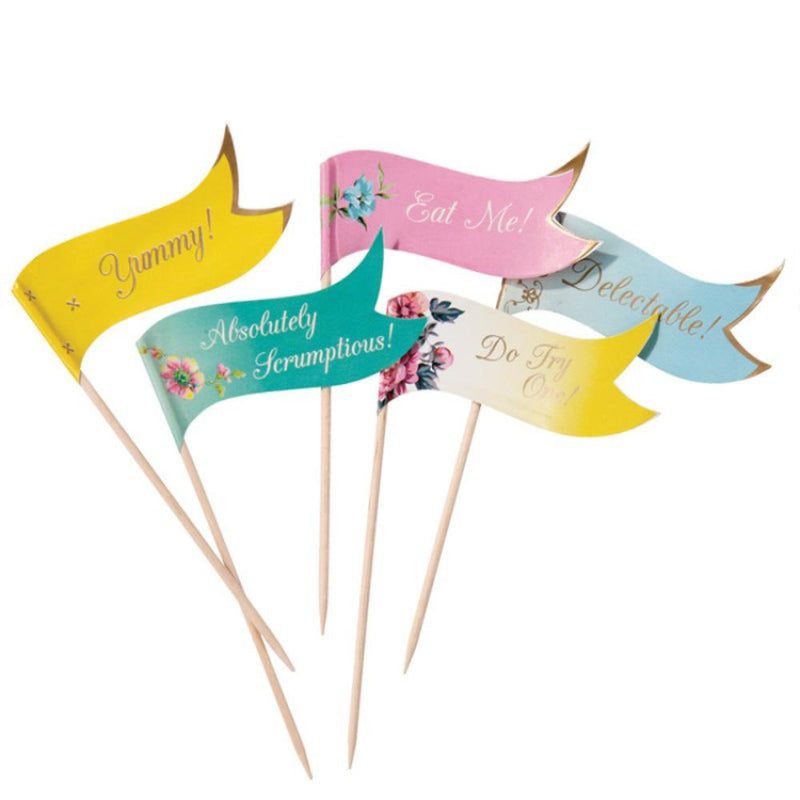 Truly Scrumptious Party Canape Flags (x24)
