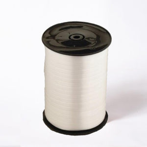 A reel of white party and gift ribbon
