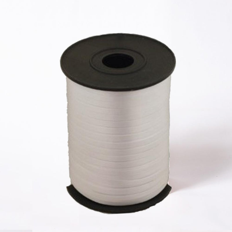 A reel of silver party and gift ribbon