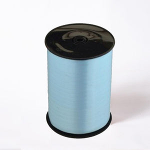 A reel of blue party and gift ribbon