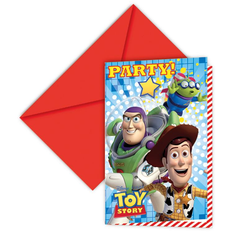 Disney Toy Story Stars Party Invitations (x6)