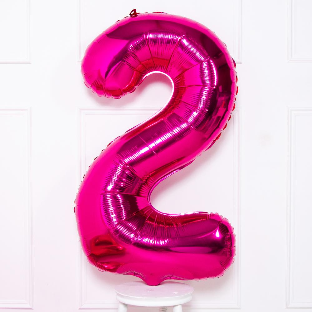 Supershape Pink Helium Balloon Number 2